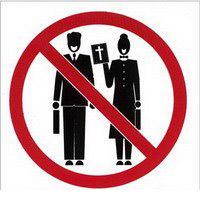 No Proselytizing - Missionaries